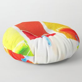Abstract Paintbrushes Floor Pillow
