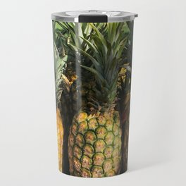 roadside pineapples in Hawaii Travel Mug