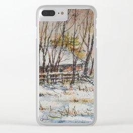 Milk Barn in Watercolor Clear iPhone Case