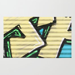 Urban Street Art Collection in Yellow Rug