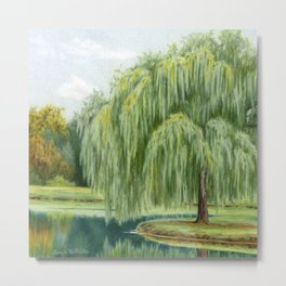 Under The Willow Tree by Sarah Batalka Metal Print