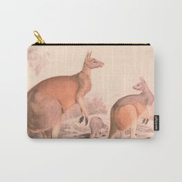 Vintage Kangaroo Family Illustration (1849) Carry-All Pouch