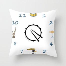 clock drum Throw Pillow