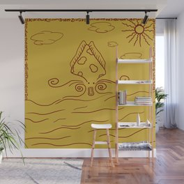 Ancient People ( Giant Squid Monster ) Wall Mural