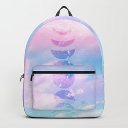 Unicorn Pastel Clouds Moon Phases #1 #decor #art #society6 Backpack