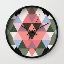 Abstract triangles #4 Wall Clock
