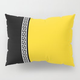 Greek Key 2 - Yellow and Black Pillow Sham