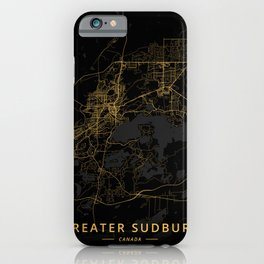 Greater Sudbury, Canada - Gold iPhone Case