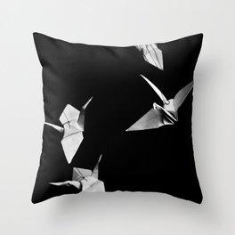 Senbazuru Throw Pillow