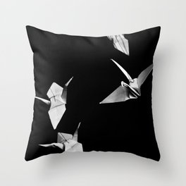 Senbazuru Throw Pillow