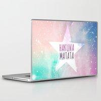 hakuna Laptop & iPad Skins featuring Hakuna Matata by Pink Berry Patterns