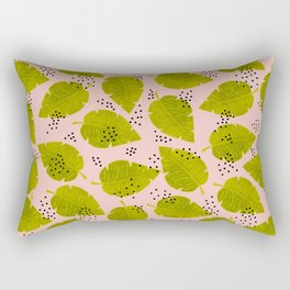 Palm Leaves & Dots Rectangular Pillow