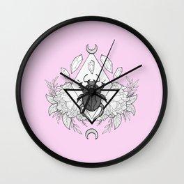 Scarab Queen // Pink Wall Clock