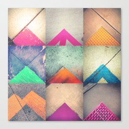 Bright Triangles Canvas Print