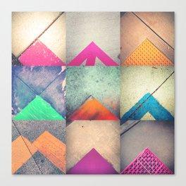 Bright Triangles Canvas Print