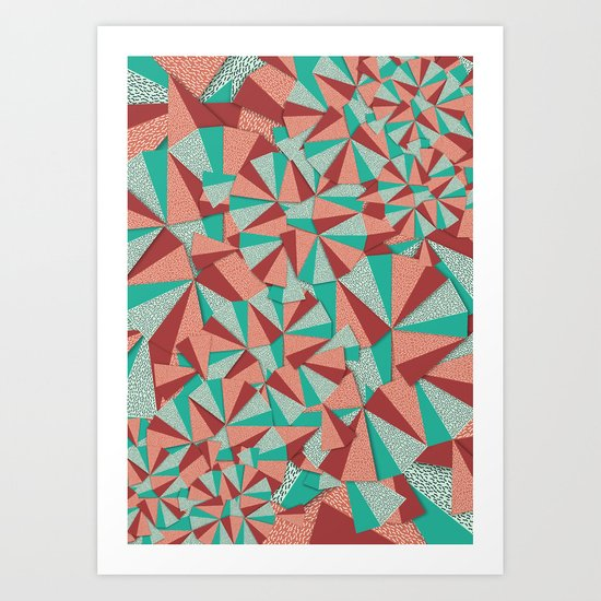 Marsala Pattern Art Print
