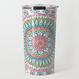 Color on White Travel Mug