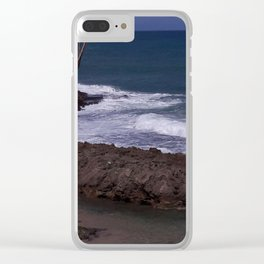 Beach Scene - San Juan, Puerto Rico Clear iPhone Case