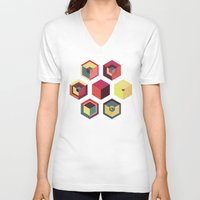 kitchen V-neck T-shirts featuring Idea Kitchen by Terran Relic