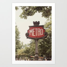 A Metro In Paris Art Print