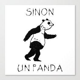 Sinon, un panda (2) Canvas Print