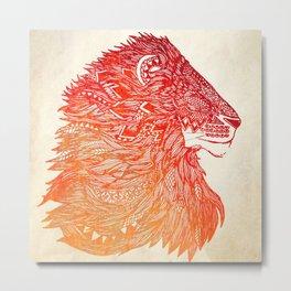 King and Lionheart Metal Print