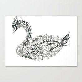 Ornate Swan Canvas Print