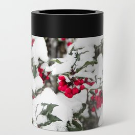 SNOW COVERED HOLLY Can Cooler