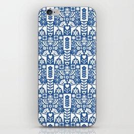 Swedish Folk Art - Blue iPhone Skin