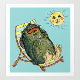 Mega Monsters Sunbath III. Art Print