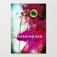 breaking bad Canvas Prints featuring BREAKING BAD by Michael Scott Murphy