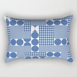 POTS OF SPOTS BLUE Rectangular Pillow