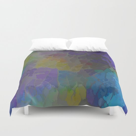 Rainbow Mosaic Abstract Duvet Cover