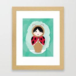 Ladybug Matryoshka Framed Art Print