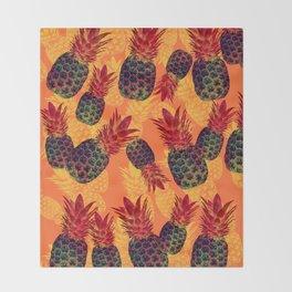 Pineapple Carnival Throw Blanket