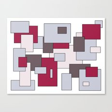 Squares - gray and purple. Canvas Print