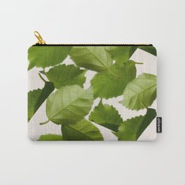 Green Leaves Falling Carry-All Pouch