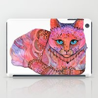 stickers iPad Cases featuring SUNSET CAT by Ola Liola