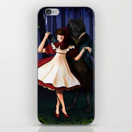 A Dangerous Dance, Red Hood And The Wolf iPhone Skin