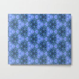 Green and blue flowery pattern Metal Print