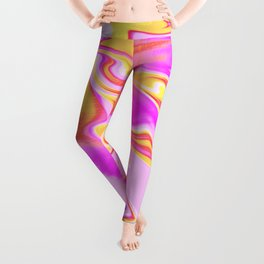 Psychedelic Summer Vibes Leggings