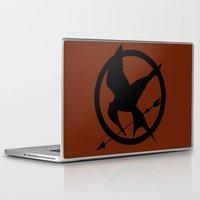 mockingjay Laptop & iPad Skins featuring Mockingjay by Jessica Wray