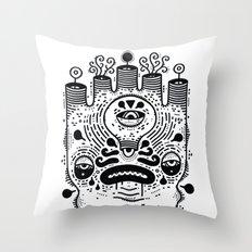 le sad boii Throw Pillow