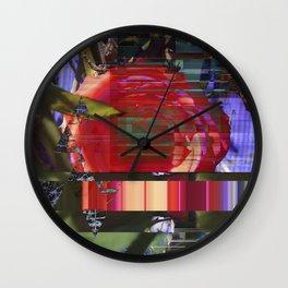Twisted Rose v12 Wall Clock