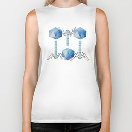 Bacteriophage 2, Science art, science, virus, microbiology, virology, geekery, science illustration Biker Tank