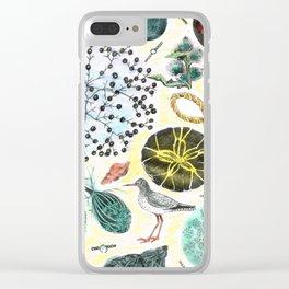 Seaside Memories Clear iPhone Case