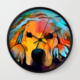 Golden Retriever 4 Wall Clock