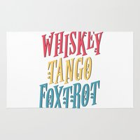 whiskey Area & Throw Rugs featuring Whiskey Tango by northside