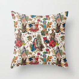 Una Navidad hecha Albañomaría Throw Pillow