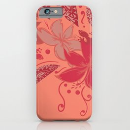 Samoa Watermelon Polynesian Floral iPhone Case